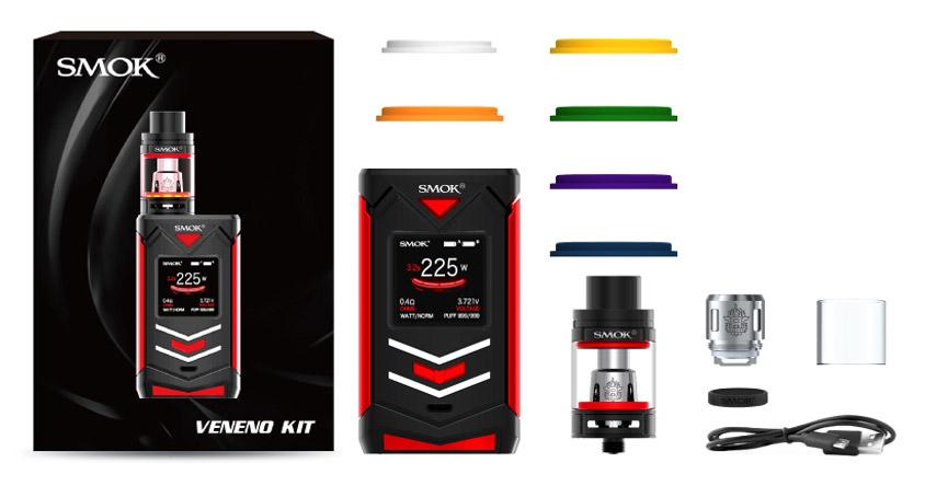 Комплектация SMOK Veneno + TFV8 Big Baby Light Edition Kit