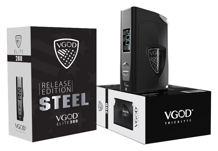 Комплектация Боксмода VGOD ELITE 200 STEEL