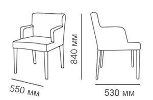 габаритные размеры кресла Тина