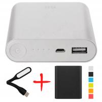 Xiaomi Mi Power Bank 10400 Черный с чехлом и фонариком