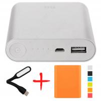 Xiaomi Mi Power Bank 10400 Оранжевый с чехлом и фонариком