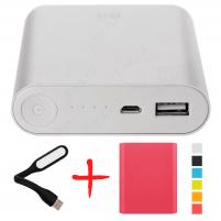 Xiaomi Mi Power Bank 10400 Розовый с чехлом и фонариком