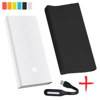 Xiaomi Mi Power Bank PRO 20000 Черный с чехлом и фонариком