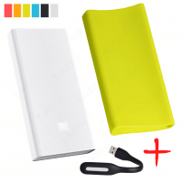Xiaomi Mi Power Bank PRO 20000 Салатовый с чехлом и фонариком