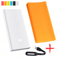 Xiaomi Mi Power Bank PRO 20000 Оранжевый с чехлом и фонариком