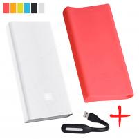 Xiaomi Mi Power Bank PRO 20000 Розовый с чехлом и фонариком