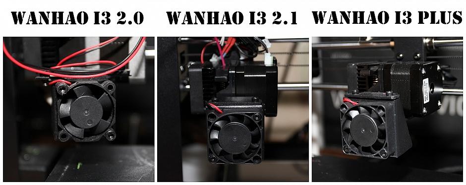 чем отличаются wanhao duplicator v 2.1 и 2.0 и plus