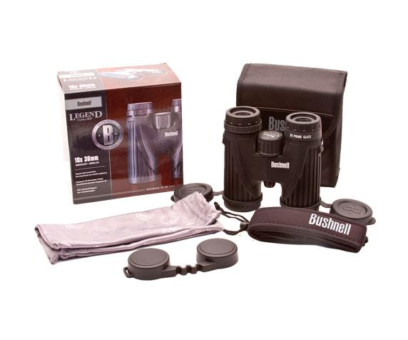 Комплект поставки бинокля Bushnell Legend Ultra HD 10x36