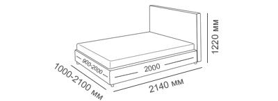 габаритные размеры кровати Венеция Люкс