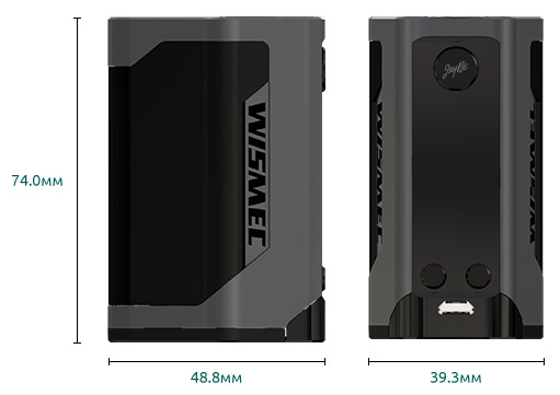 Размер Боксмода WISMEC Reuleaux RX GEN3