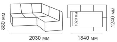 габаритные размеры кухонного угла Карелия КУ Мини