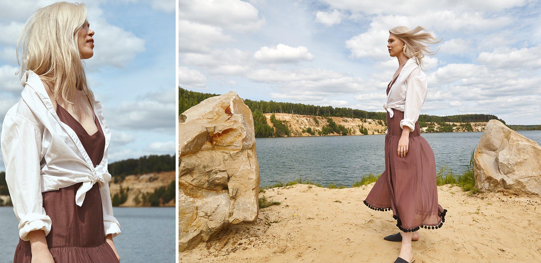 Платье-сарафан ERMA на Ксении Шабалиной