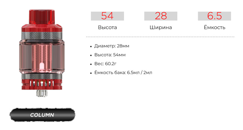 Атомайзер WISMEC Column