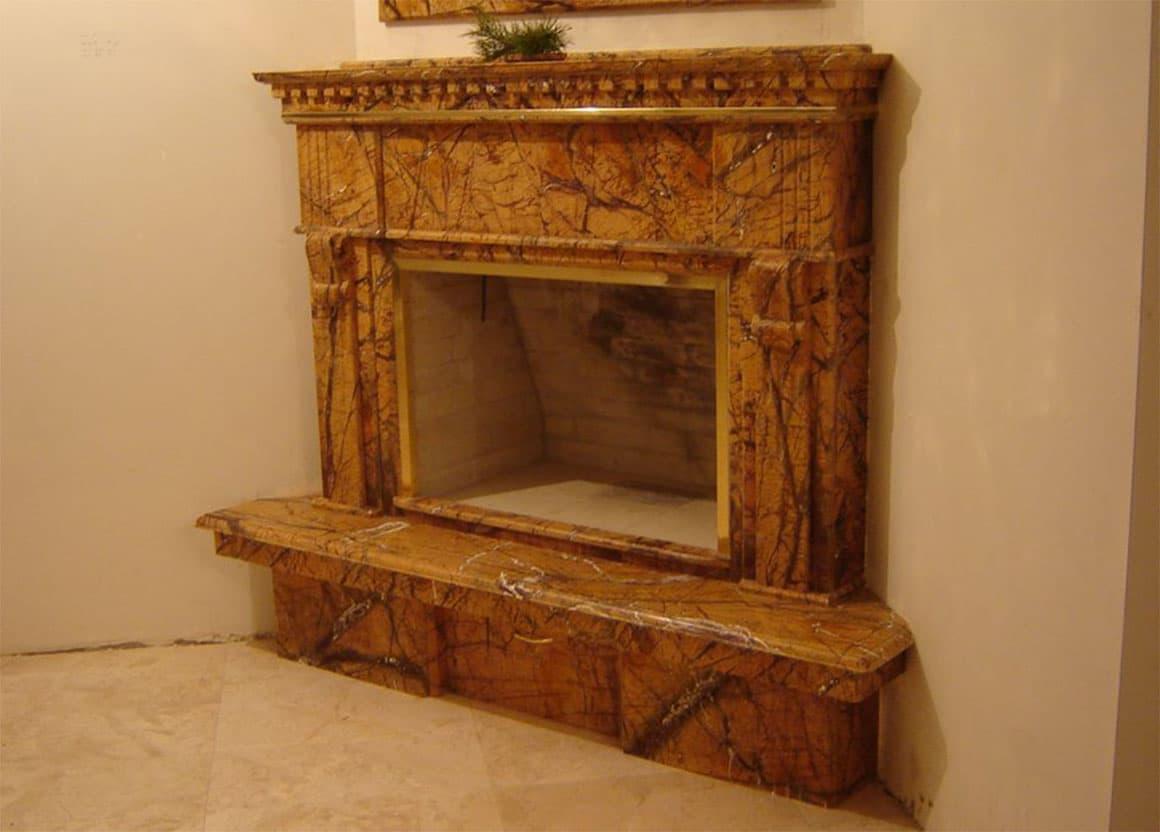 Портал для камина из мрамора Бидасар Голд