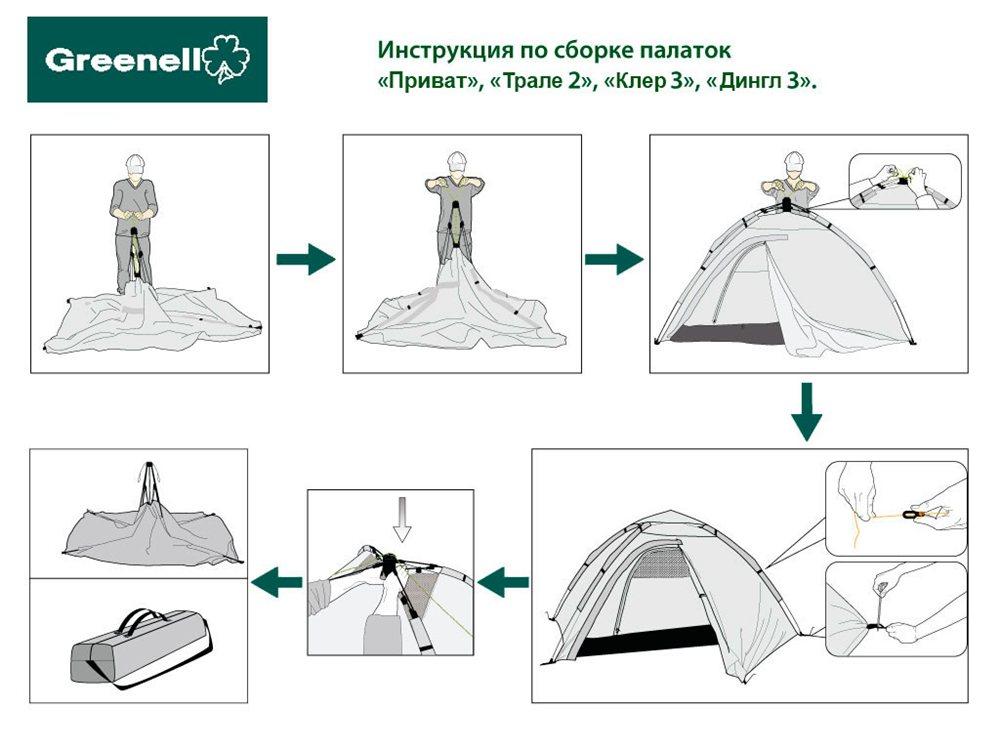 Инструкция к палатке Клер 3