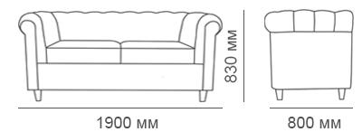габаритные размеры дивана Кантри