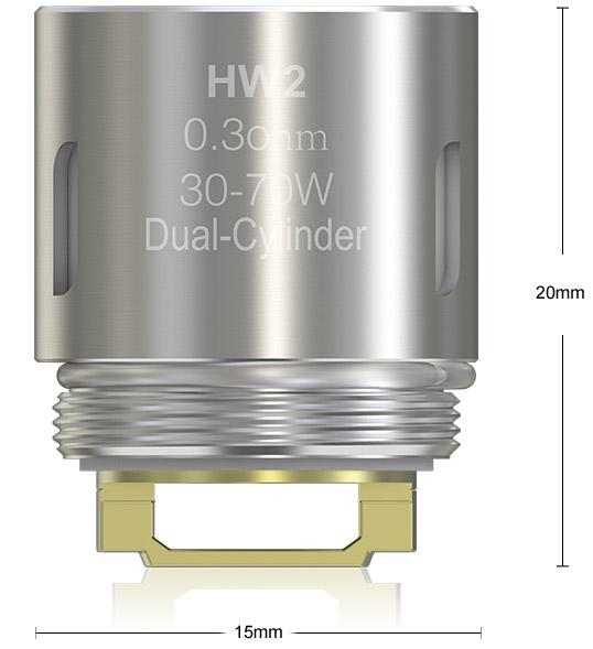 Размеры Испаритель Eleaf HW2 0.3ом