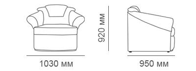 габаритные размеры кресла Премьер